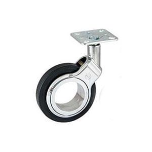 גלגל עם פלטה, קוטר 60 / 75, דגם OLYM_גלגלים לריהוט-409