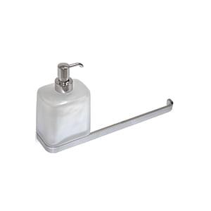 מיכל לסבון נוזלי עם מתלה למגבת, דגם W4274_סדרת Time לאמבט-349