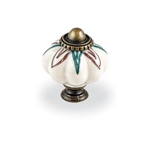 ידית כפתור עגולה, עשויה פורצלן, דגם C132-17034