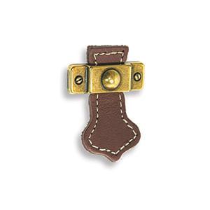 ידית כפתור מעור לריהוט, דגם 21150_ידיות עור-502