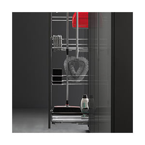 מזווה נשלף צר במיוחד לאחסון ייעודי של חומרי ואביזרי ניקוי, דגם M15 CLEAN_מזווים למטבח-513