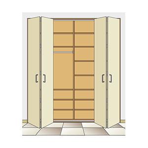 קיט הרמוניקה ל 2 דלתות כבדות עם 2 כנפיים, עד 15 ק