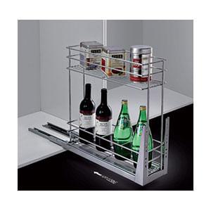 עגלת בקבוקים נשלפת, 2 קומות, דגם 820_מתקנים נשלפים למטבח-634