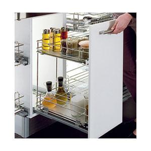 עגלת בקבוקים נשלפת 2 קומות למטבח, דגם EGTM5_מתקנים נשלפים למטבח-634