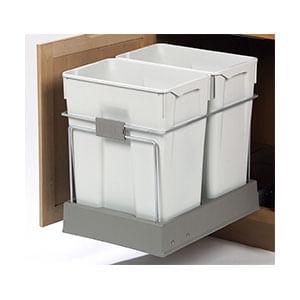 פח אשפה כפול נשלף למטבח, נפח 30X2, דגם P551_פחי אשפה נשלפים למטבח-303