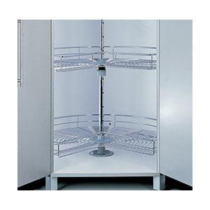 פיתרון איחסון לפינה-סט 3/4 קרוסלה שתי קומות, דגם 270_פתרונות איחסון לפינות מטבח-568