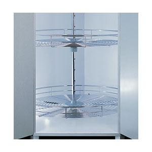 פתרון איחסון לפינה, סט קרוסלה עגולה שתי קומות, דגם 360_פתרונות איחסון לפינות מטבח-568