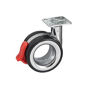 גלגל עם פלטה ומעצור, דגם KOOEB75_גלגלים לריהוט-409