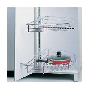 פתרון איחסון לפינה, מתקן קרוסלה 180 מעלות, על מוט מרכזי, דגם 180B_פתרונות איחסון לפינות מטבח-568