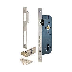 מנעול לדלת כניסה עם 3 פינים וצלינדר, עם כפתור נעילה מבפנים, דגם 510716P_מנעולים לדלתות בניין-370