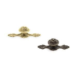 ידית כפתור מסוגננת עם פלטה, סגנון כפרי וינטאג',דגם 1803_ידיות כפתור וינטאג' כפרי-304