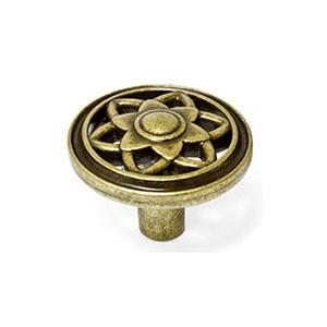 ידית כפתור מעוטרת, סגנון וינטאג' כפרי, דגם WO645_ידיות כפתור-291