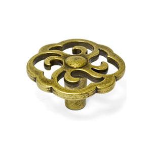 ידית כפתור מעוצבת בסגנון וינטאג' כפרי, דגם WP642_ידיות כפתור וינטאג' כפרי-304
