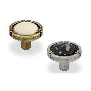 ידית כפתור עגולה, בסגנון כפרי, דגם F091_ידיות כפתור וינטאג' כפרי-304