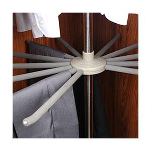 מתקן קרוסלה 3/4 עם 3 קומות לבגדים ונעליים, מסתובב 360°, להתקנה בפינת הארון, דגם WF03_מתקן קרוסלה לתליית בגדים-753
