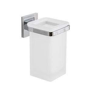 כוס זכוכית לאמבטיה בשילוב מחזיק, דגם B3702_כוסות לאמבט-342