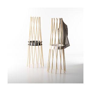 מתלה בגדים מעוצב, עשוי עץ בשילוב פלדה, דגם STKER_מתלים לבגדים-749