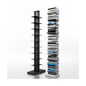 מעמד מדפים לספרים, 10 מדפים עשויי מתכת, עם בסיס קבוע, דגם STUSB_מערכות מידוף וספריות לבית-733