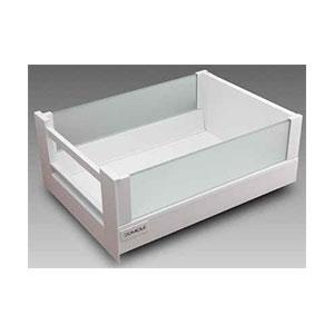 מגירה פנימית עם דופן הגבהה מזכוכית וחזית גלריה מגירות, סדרת MOBILA_מגירות MOBILA למטבח ולריהוט-835
