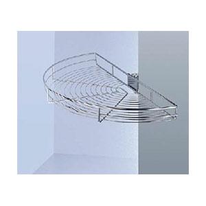 פתרון איחסון לפינת מטבח, סט 1/2 קרוסלה עם זוג מדפים על צירים, קוטר 755 מ