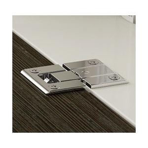 ציר ישר שטוח ללא קפיץ לדלת מזנון, כולל תושבת וכיסוי, דגם KIMANA_ציר ישר שטוח לריהוט-863