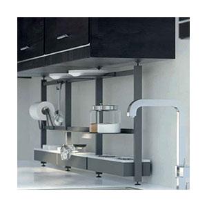 יחידת מדפים מודולרית, דגם GRID_מערכות תלייה לכלי מטבח | פתרונות תלייה למטבח-301