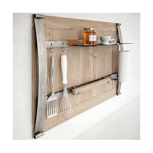 מדף מודולרי לכלי עזר במטבח בעיצוב יחודי, דגם TECA_מערכות תלייה לכלי מטבח-301