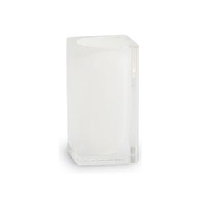 כוס זכוכית בגוו לבן לאמבטיה, דגם IT22_סדרת SNOW-1243