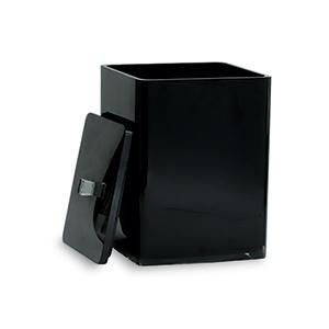 פח אשפה עם מכסה, גוון שחור, דגם IT31_פחי אשפה לאמבטיה-338