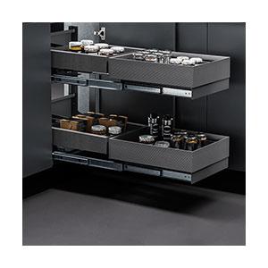 מנגנון פינה מהפכני לניצול אופטימלי של פינות המטבח, דגם FLYBOX_פתרונות איחסון לפינות מטבח-568