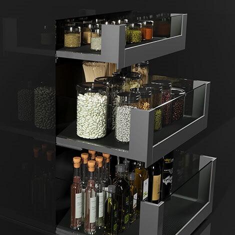 لوازم معدنية ومنتجات تخزين وتنظيم للمطبخ