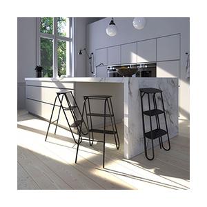 סולם מדרגות איכותי דקורטיבי ומעוצב למטבח ולבית, דגם U6200_אביזרים למטבחים-575