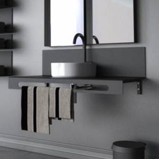 מתלה / מדף למגבות וכיור אמבטיה, דגם U4074_מתלה/מדף לכיור ומגבות אמבטיה-1806