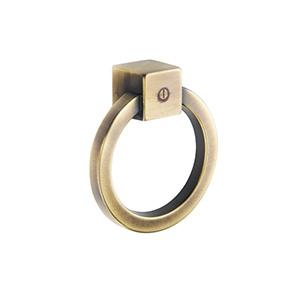 ידית טבעת עגולה, בסגנון כפרי וינטאג, דגם F163_ידיות לדלתות פנים וחוץ-289