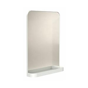 מראה מלבנית תלויה עם מסגרת ומדף גובה 800 ממ עומק 120 ממ רוחב 600 ממ לבן, דגם TB600_מראות מעוצבות לאמבטיה-740